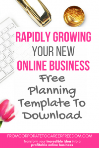 Free planning template to help you build a 12 month strategy for your new online business, download it now, entrepreneur, tips, template, free, download