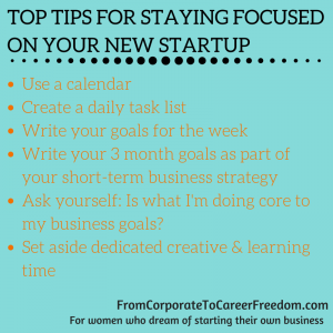 top tips for staying focused on business