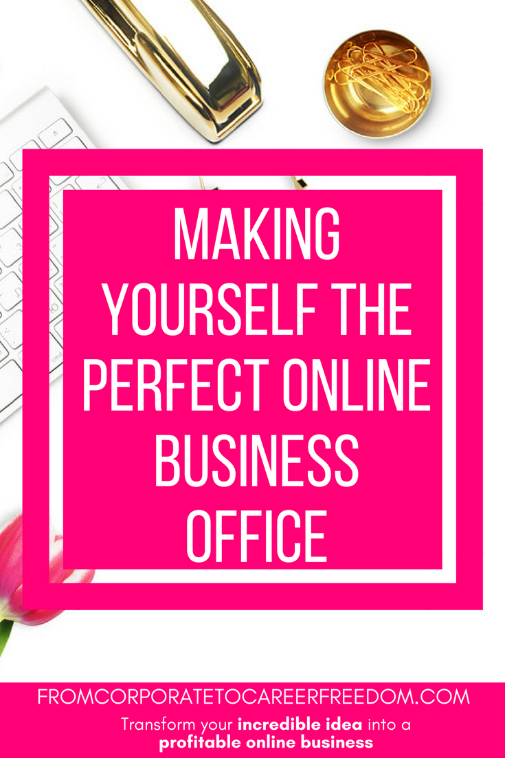 how to set up the perfect online business office, working from home, entrepreneur, solopreneur, tips, inspiration